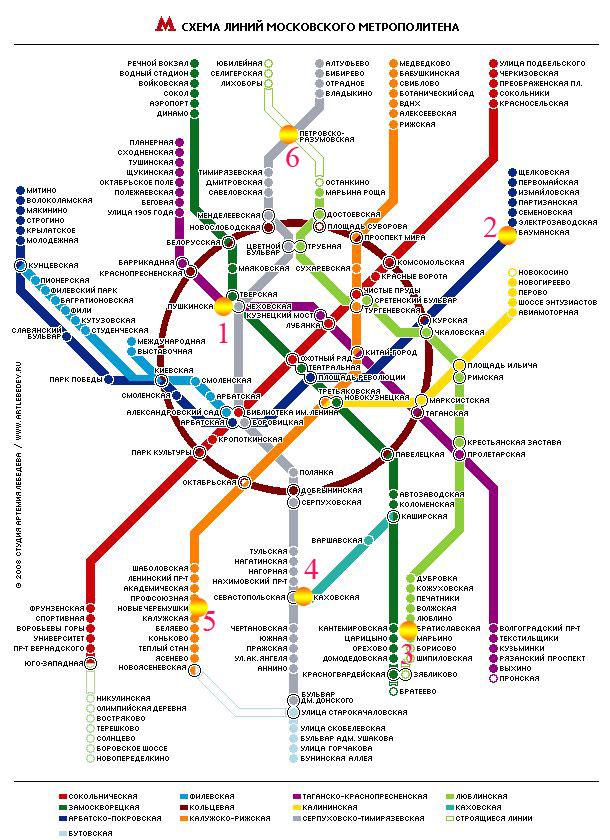 М новые черемушки на схеме метро
