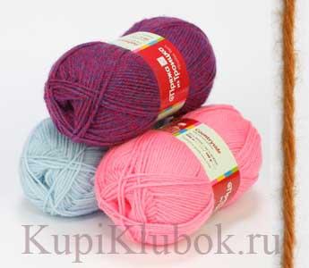 Пряжа для вязания 50 шерсть 50 акрил 84